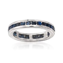 2.30 ct. t.w. Channel-Set Sapphire Eternity Band in Sterling Silver, , default