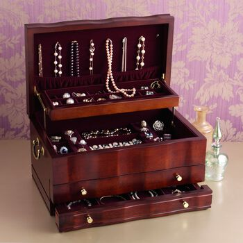 "Reed & Barton ""Victoria"" Jewelry Box, , default"