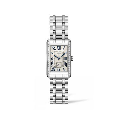 Longines Dolcevita Women's 23x37mm .55 ct. t.w. Diamond Watch in Stainless Steel, , default