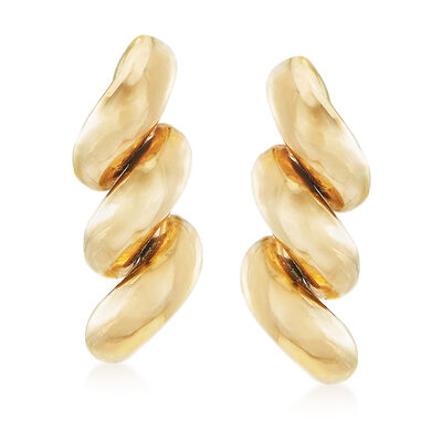 14kt Yellow Gold San Marco-Style Drop Earrings, , default