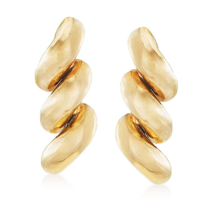 14kt Yellow Gold San Marco-Style Drop Earrings, , default