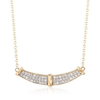 .33 ct. t.w. Diamond Curve Necklace in 14kt Yellow Gold, , default