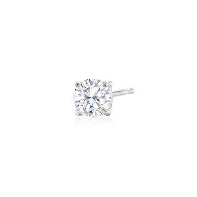.25 Carat Diamond Single Stud Earring in 14kt White Gold