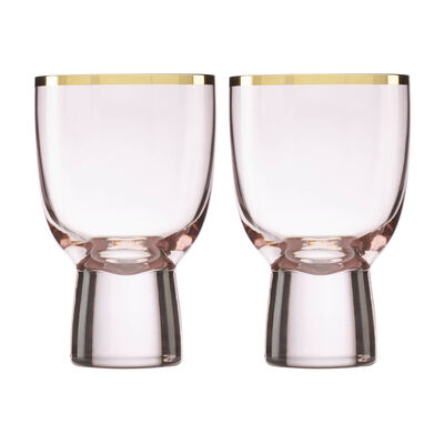 Trianna Blush 2-Piece Pink Wine Glassware Set