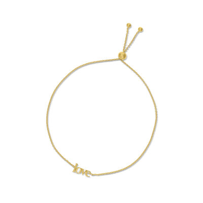 "14kt Yellow Gold ""Love"" Bolo Bracelet, , default"