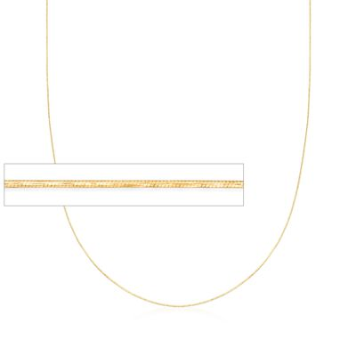 .8mm 14kt Yellow Gold Adjustable Snake Chain Necklace, , default
