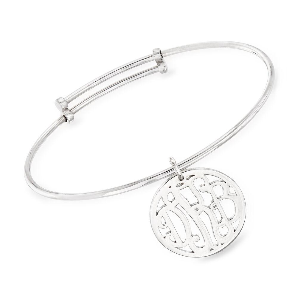 Personalized Monogram Bangle Bracelet