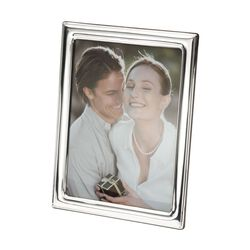 Sienna Sterling Silver Plain Border Frame , , default