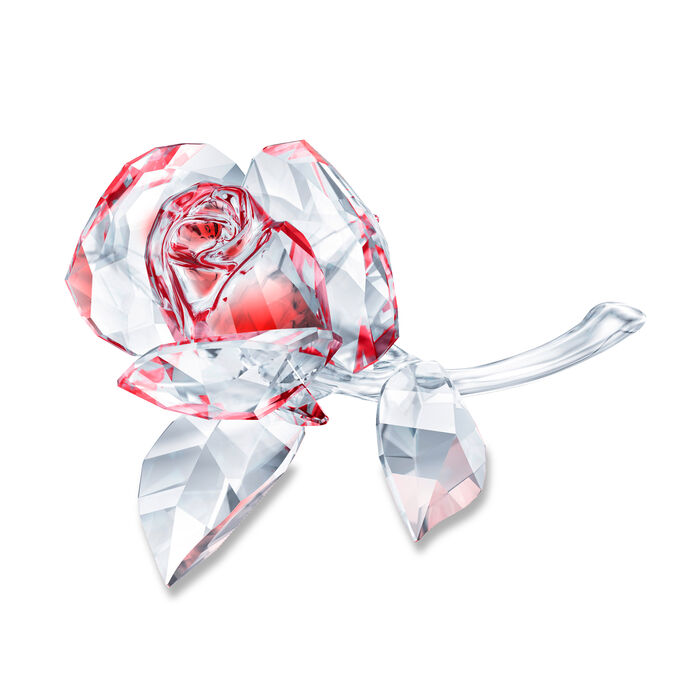 Swarovski Crystal Blossoming Rose Figurine