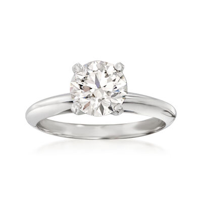 1.32 Carat Certified Diamond Solitaire Ring in Platinum