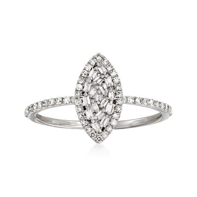 .25 ct. t.w. Diamond Marquise-Shaped Ring in 14kt White Gold