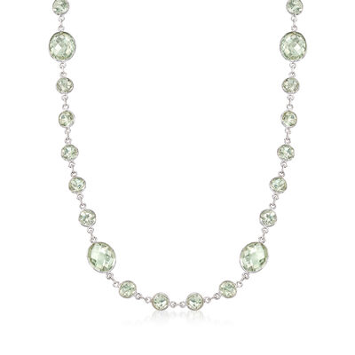 50.00 ct. t.w. Prasiolite Necklace in Sterling Silver