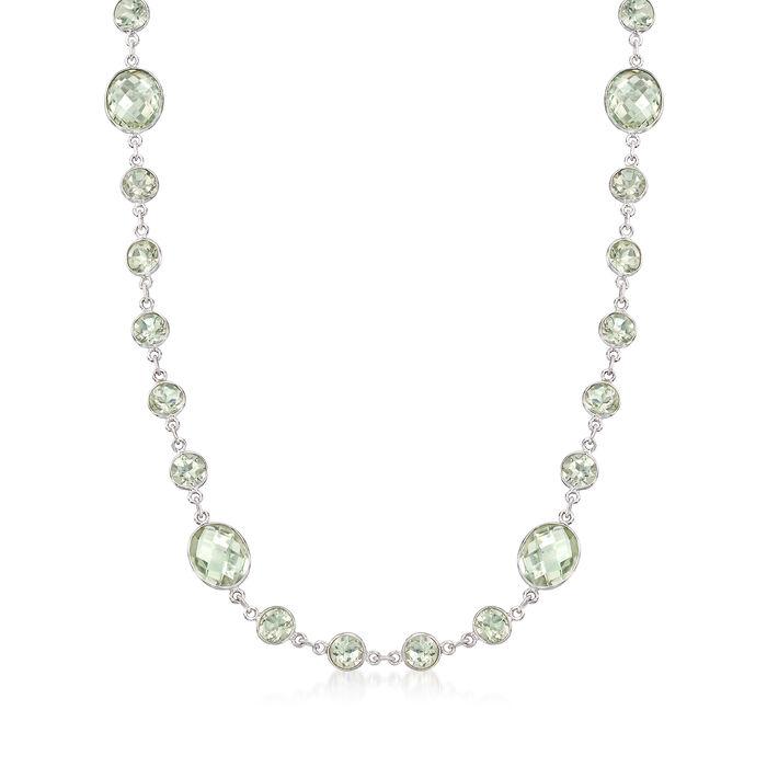 "50.00 ct. t.w. Prasiolite Necklace in Sterling Silver. 20"", , default"