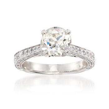 C. 2000 Vintage 3.40 ct. t.w. Diamond Ring in Platinum. Size 6.75, , default