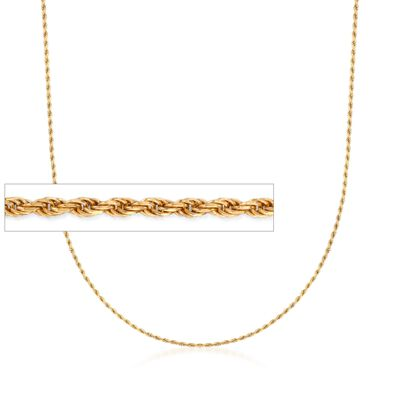 Italian 1.5mm 18kt Gold Over Sterling Adjustable Slider Rope Chain Necklace