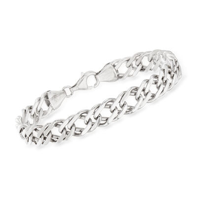 Sterling Silver Interlocking Link Bracelet