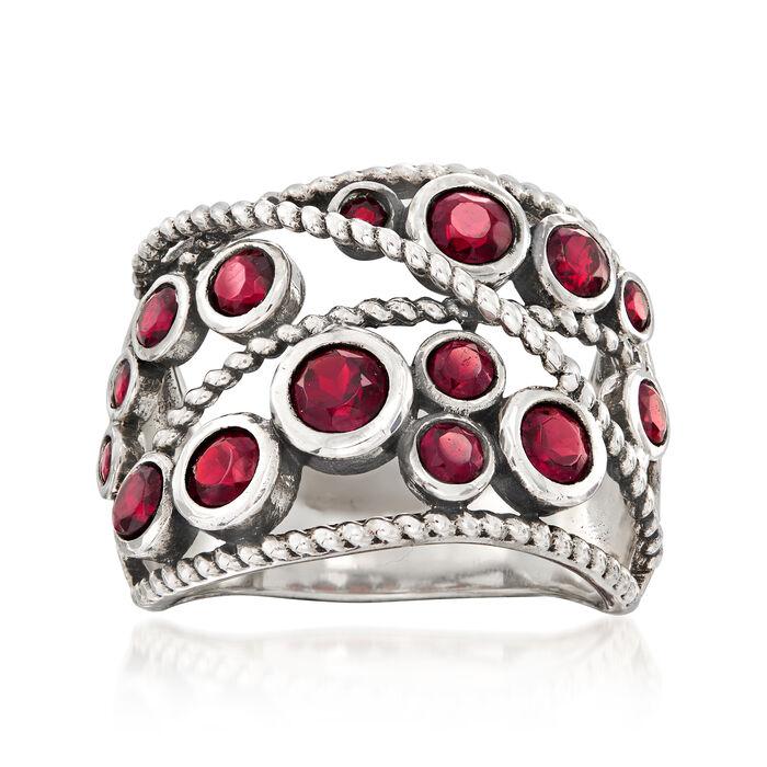 1.70 ct. t.w. Garnet Ring in Sterling Silver