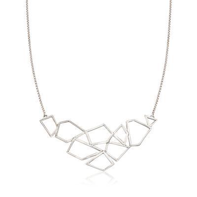 Zina Sterling Silver Prism Necklace, , default