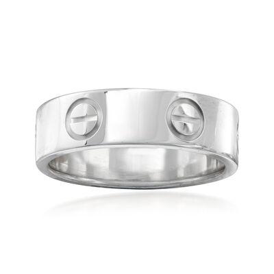"C. 1996 Vintage Cartier ""Love"" Ring in 18kt White Gold, , default"