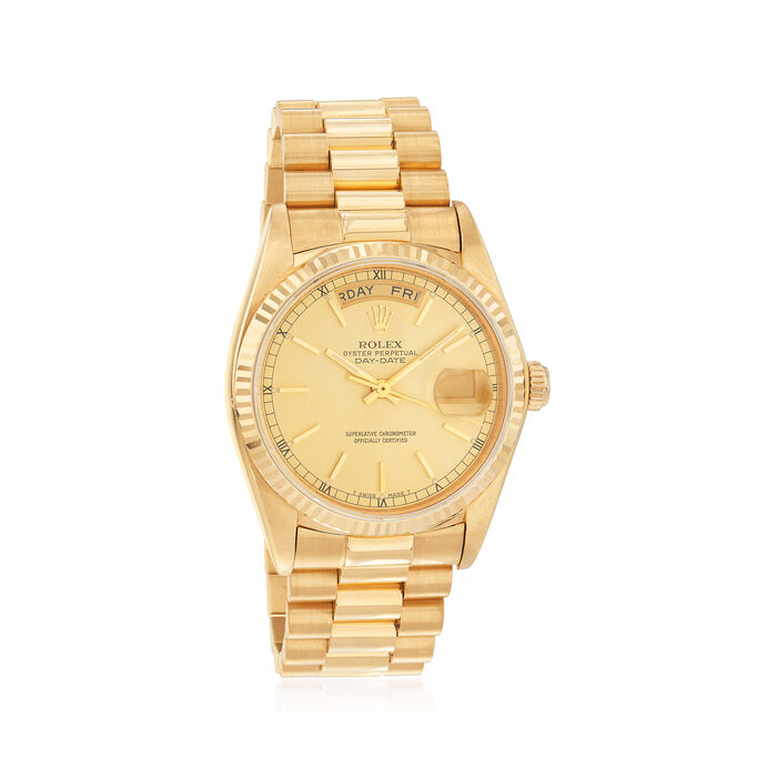 Pre-Owned Rolex Day-Date Men's 36mm Automatic 18kt Yellow Gold Watch, , default