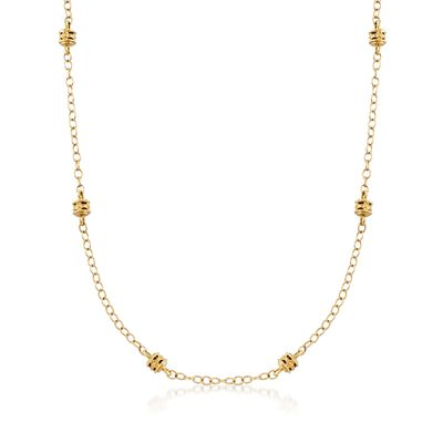 "Judith Ripka ""Marisol"" 18kt Yellow Gold Rondelle Bead Station Necklace, , default"