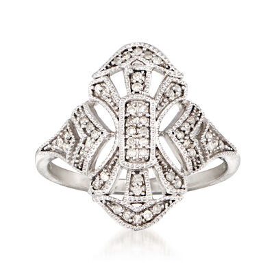 .15 ct. t.w. Diamond Openwork Ring in 14kt White Gold