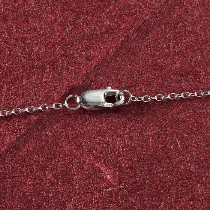1.00 ct. t.w. Bezel-Set Diamond Station Necklace in 14kt White Gold