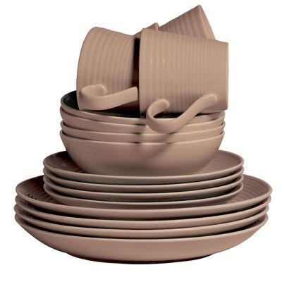 "Gordon Ramsay for Royal Daulton ""Maze"" 16-pc. Taupe Dinnerware Set"