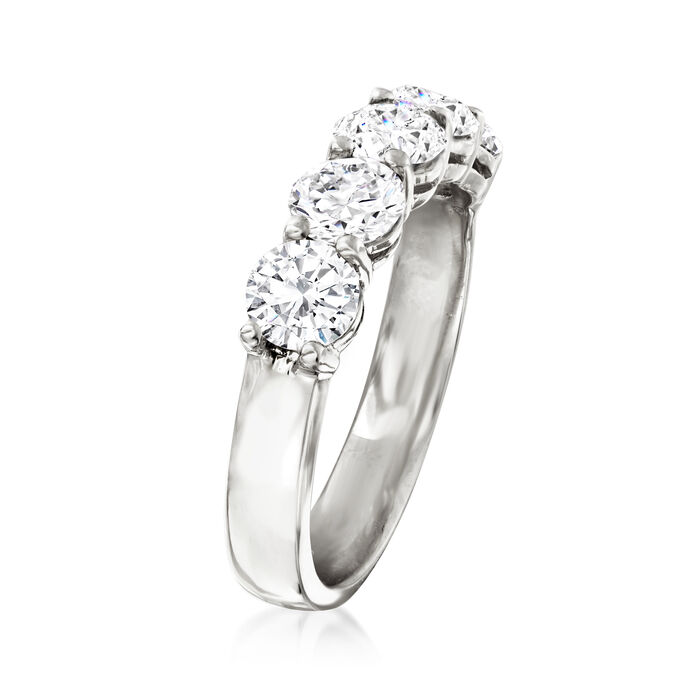 2.00 ct. t.w. Diamond Five-Stone Ring in 14kt White Gold