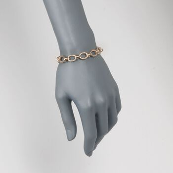 "14kt Yellow Gold Knotted Link Bracelet. 7.25"", , default"