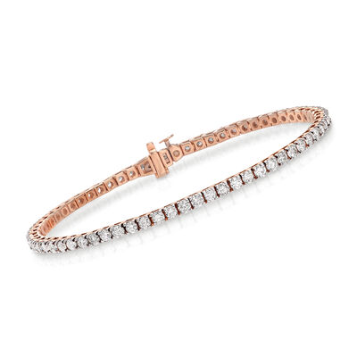 4.00 ct. t.w. Diamond Tennis Bracelet in 14kt Rose Gold, , default