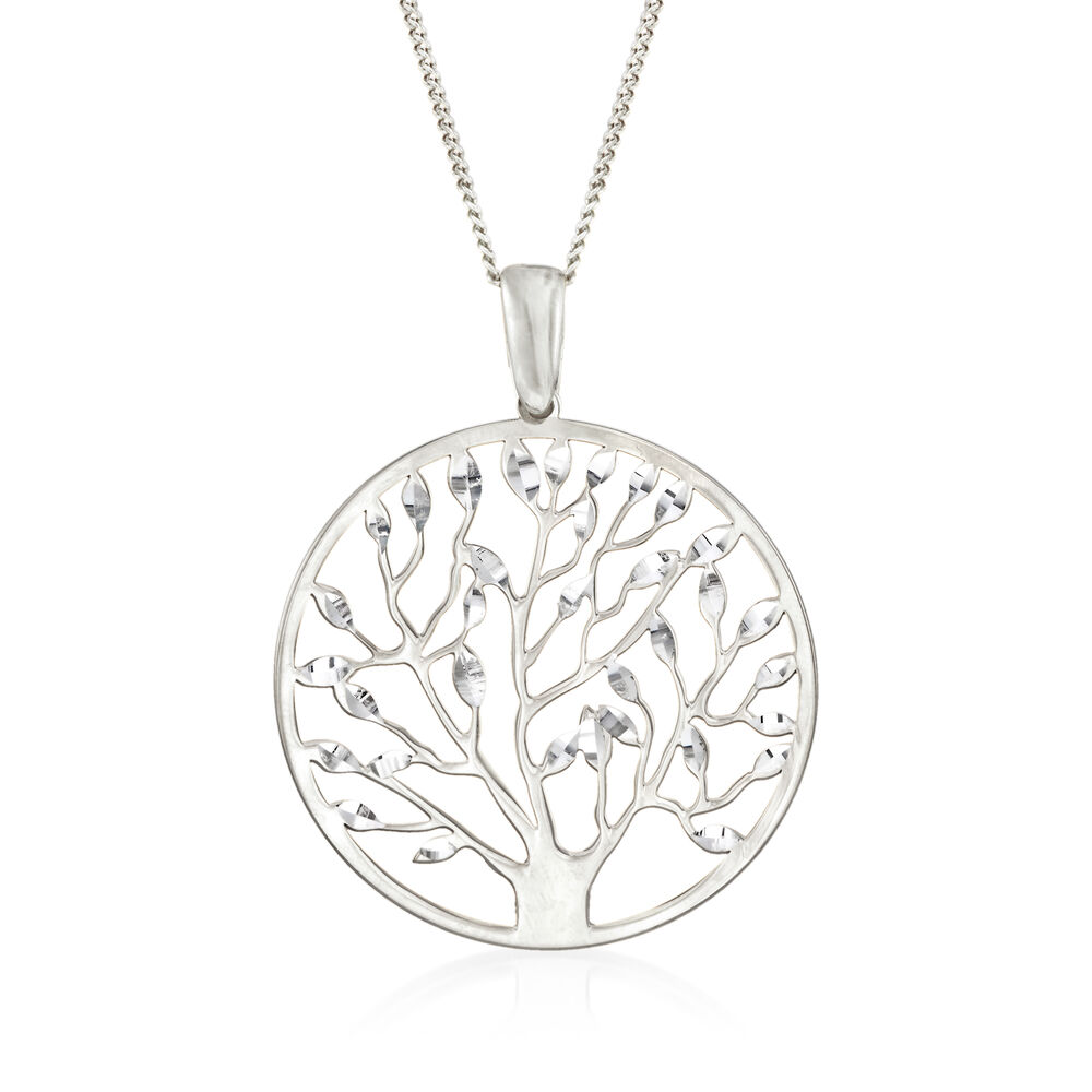 Cut Out Tree Of Life Pendant Necklace