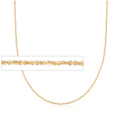 Italian 1mm 14kt Yellow Gold Crisscross Chain Necklace, , default