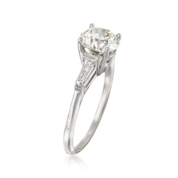 C. 2000 Vintage 2.31 ct. t.w. Certified Diamond Ring in 14kt White Gold. Size 7.5