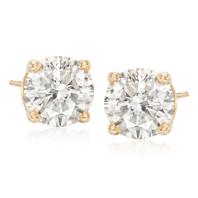 3.00 ct. t.w. Diamond Stud Earrings in 18kt Yellow Gold, , default