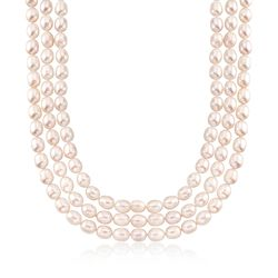 9-10mm Cultured Pearl Layered Necklace With Sterling Silver, , default