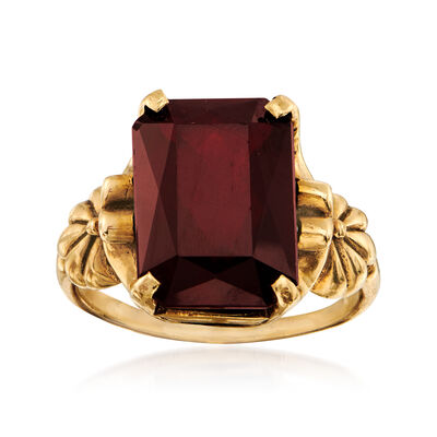 C. 1940 7.00 Carat Simulated Ruby Ring in 10kt Yellow Gold, , default