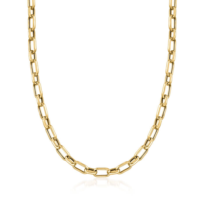 Italian 22kt Gold Over Sterling Paper Clip Link Necklace