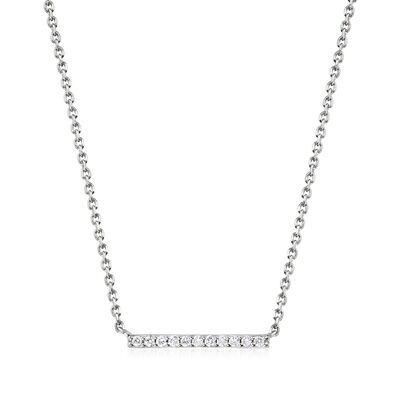.10 ct. t.w. Diamond Bar Necklace in Sterling Silver