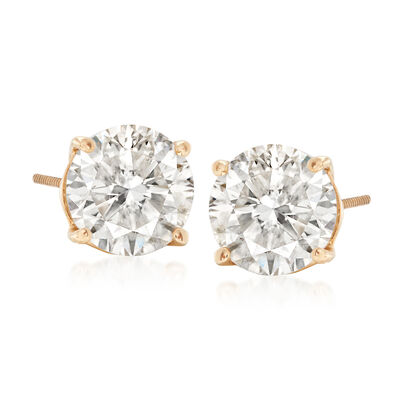2.40 ct. t.w. Diamond Stud Earrings in 14kt Yellow Gold, , default