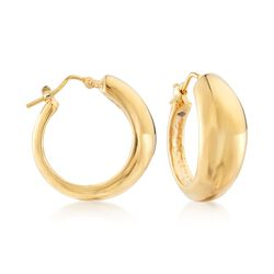 Italian 14kt Yellow Gold Domed Hoop Earrings, , default