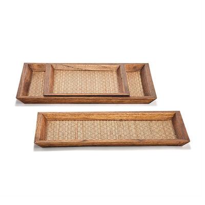 Set of 3 Teak Tree Trays