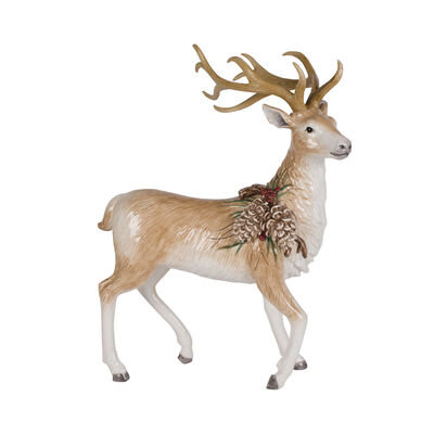 "Fitz and Floyd ""Forest Frost"" Standing Deer Figurine, , default"