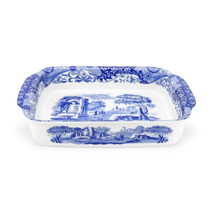 "Spode ""Blue Italian"" Rectangular Handled Dish"