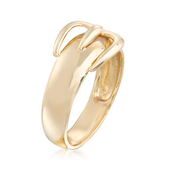 14kt Yellow Gold Buckle Ring