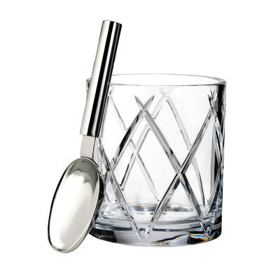 "Waterford Crystal ""Olann"" Ice Bucket with Scoop"