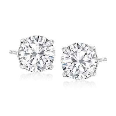 2.25 ct. t.w. Diamond Stud Earrings in 14kt White Gold