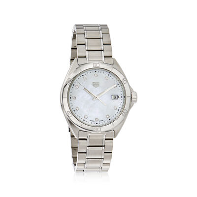 TAG Heuer Formula 1 Women's 35mm Stainless Steel Watch - Mother-Of-Pearl Dial With Diamonds, , default