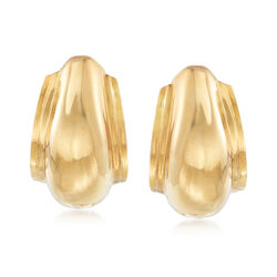 "C. 1990 Vintage Tiffany Jewelry ""Paloma Picasso"" 18kt Yellow Gold Curve Earrings, , default"