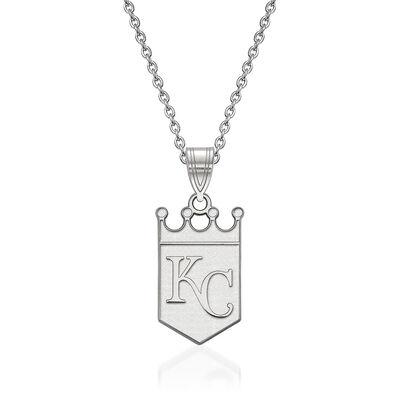 "Sterling Silver MLB Kansas City Royals Pendant Necklace. 18"", , default"